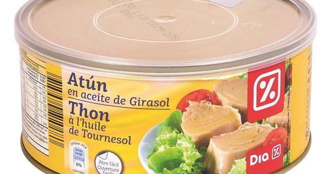 Alerta sanitaria por toxina botulínica en el atún en aceite de girasol de la marca Dia