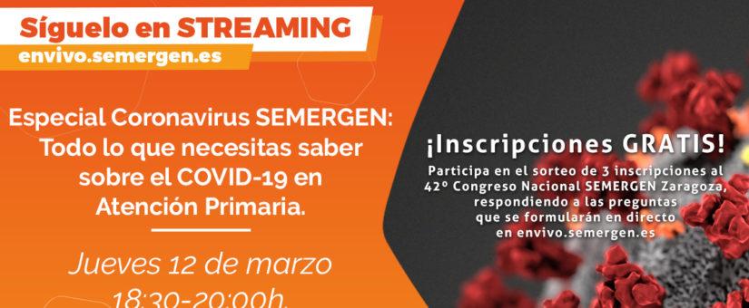 Sesión informativa y formativa GRATUITA online sobre el CORONAVIRUS