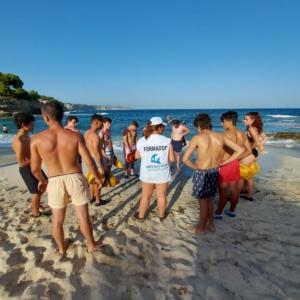 Curso de Socorrismo Acuático celebrado en la localidad de Benissa (Alicante) durate los meses de julio y agosto en modalidad semi presencial.